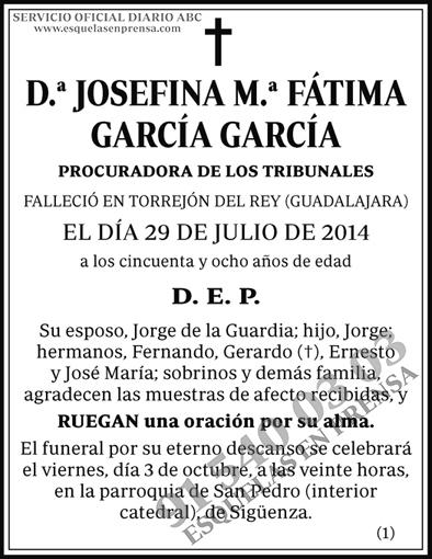 Josefina M.ª Fátima García García